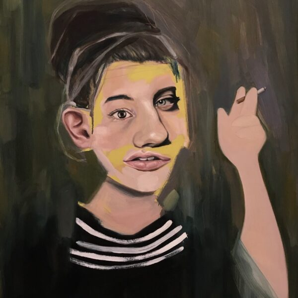 Girl smoking by Louise-Howard